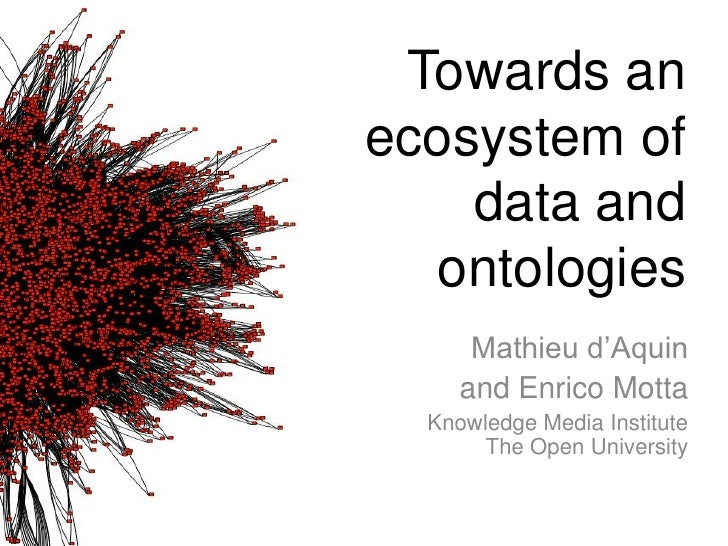 Towards anecosystem of    data and  ontologies      Mathieu d'Aquin     and Enrico Motta  Knowledge Media Institute       ...