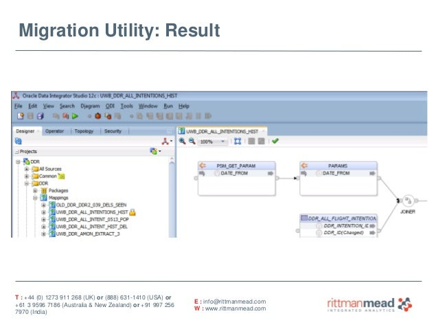 oracle database migration case study As part of this engagement, neovera utilized the oracle suite of database migration tools, but also developed a set of customized parsing tools to prepare the source code and the data for the migration.