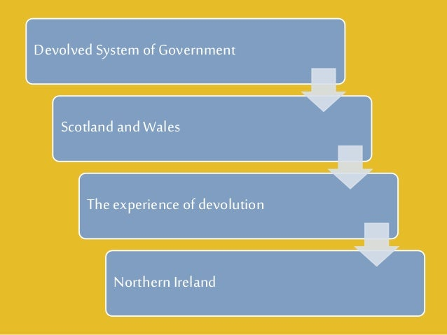 the meaning of a devolved government Appropriate analogy aside, devolution is a process in which a central government of a country grants powers to subnational governments (eg regional, state, or local governments).