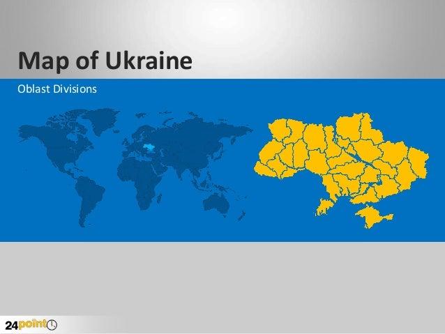 Map of Ukraine Oblast Divisions