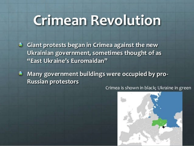 Russian Intervention After a new government was established in Ukraine, Russia voted to deploy troops to Crimea There were...