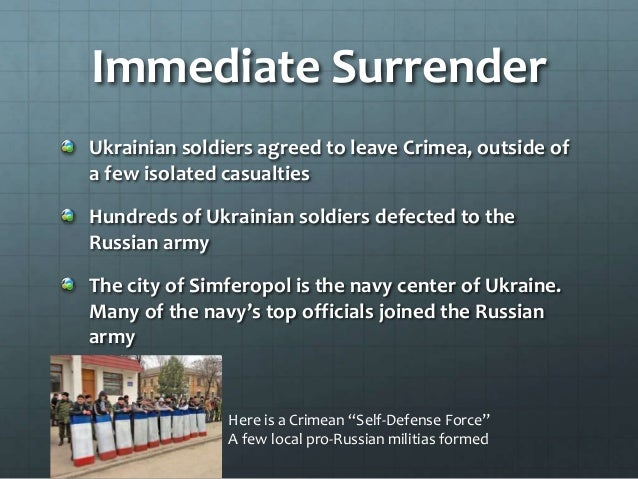 International Reactions The EU and United States condemned military occupation of Crimea Russia faced many economic sancti...