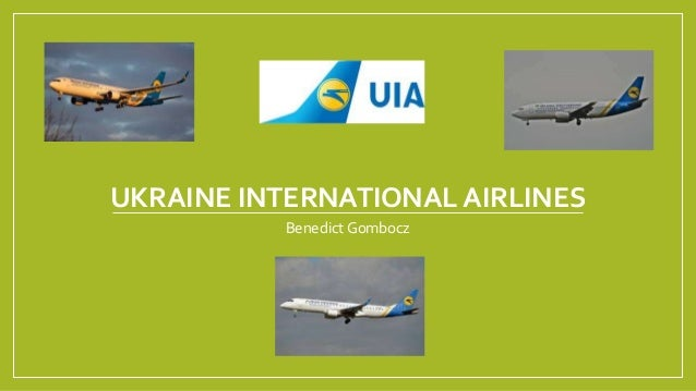 UKRAINE INTERNATIONAL AIRLINES Benedict Gombocz