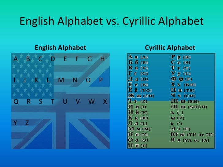 english alphabet vs cyrillic alphabet english alphabet cyrillic ...