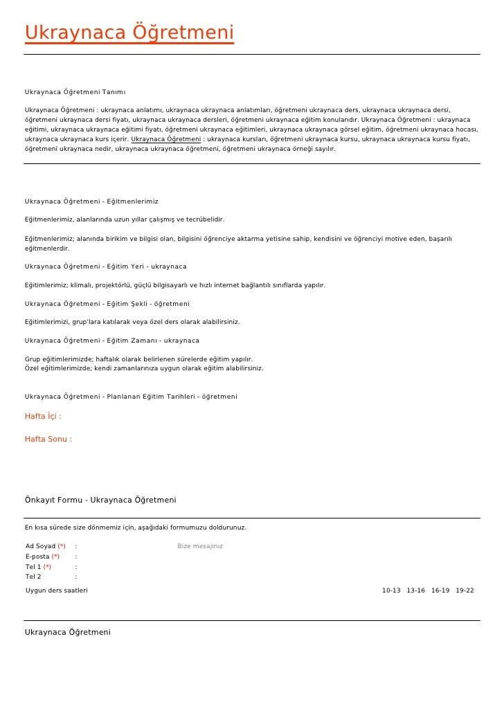 Ukraynaca ÖğretmeniUkraynaca Öğretmeni TanımıUkraynaca Öğretmeni : ukraynaca anlatımı, ukraynaca ukraynaca anlatımları, öğ...