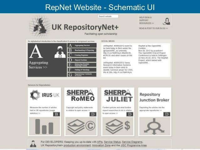 RepNet Website - Schematic UI    RCSI Oversight Group 29th Nov'12   19
