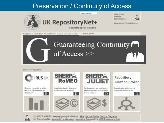 Preservation / Continuity of Access                                      32