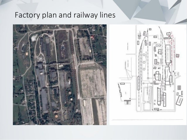 Factory plan and railway lines