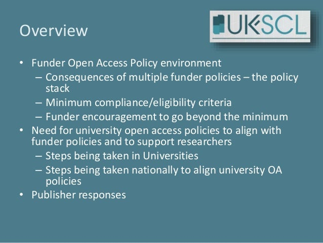 United Kingdom Scholarly Communications model policy and Licence - UK-SCL - update 2017 10 22 Slide 2
