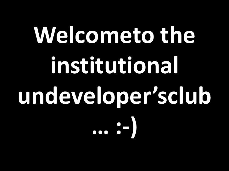 Uksg just do it yourself welcometo the institutional undevelopersclub solutioingenieria Gallery