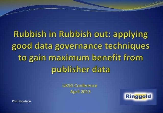 UKSG Conference                   April 2013Phil Nicolson