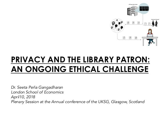 PRIVACY AND THE LIBRARY PATRON: AN ONGOING ETHICAL CHALLENGE Dr. Seeta Peña Gangadharan London School of Economics April10...