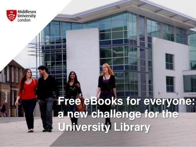 Free eBooks for everyone: a new challenge for the University Library