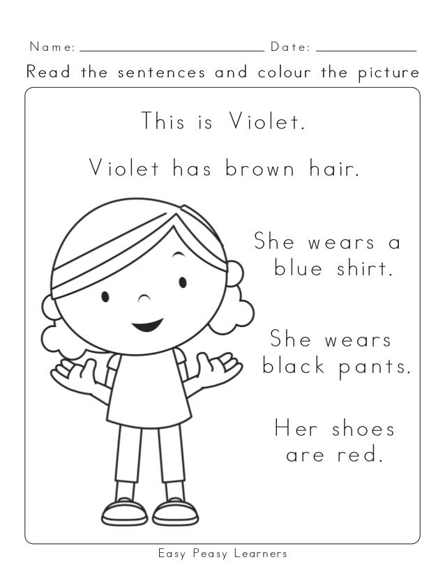Uk Spelling Read And Colour Reading Comprehension Worksheets