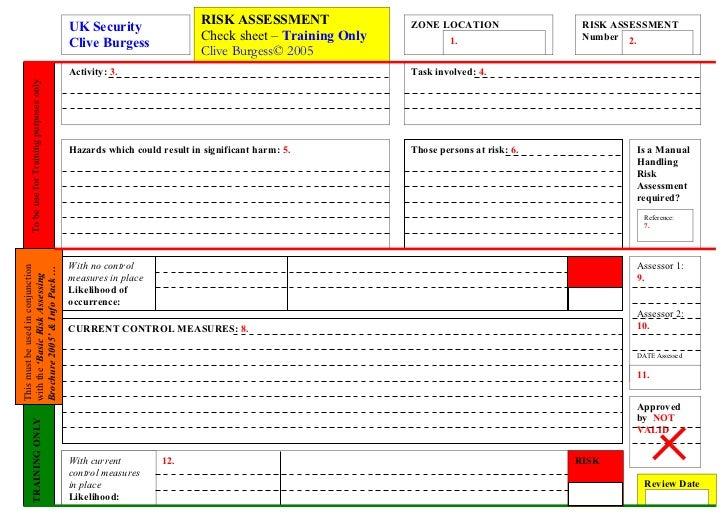 RISK ASSESSMENT               ZONE LOCATION                RISK ASSESSMENT                                              UK...