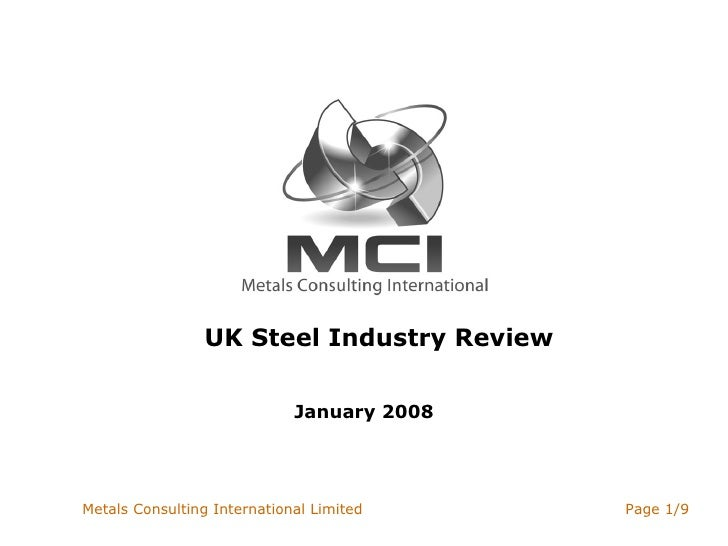 UK Steel Industry Review January 2008