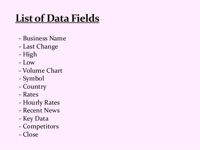 UK Stock Exchange Companies Data List
