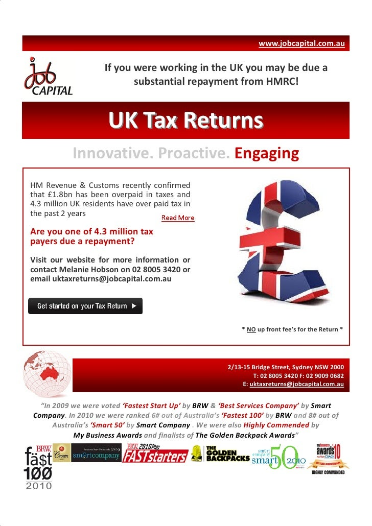 www.jobcapital.com.au                     If you were working in the UK you may be due a                            substa...