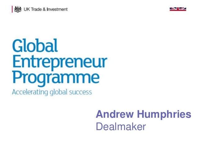 Andrew Humphries Dealmaker