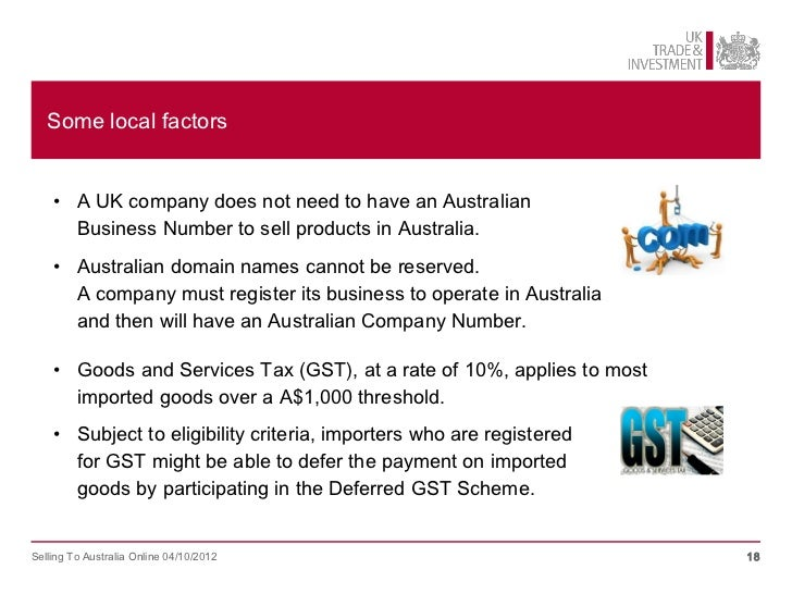 how to pay gst on 1000 imported goods to australia