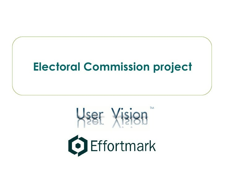 Electoral Commission project TM