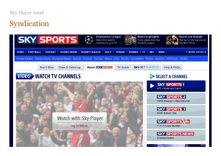 UKUPA Oct 09 Allof Us - Sky Player & The Future Of Online Tv