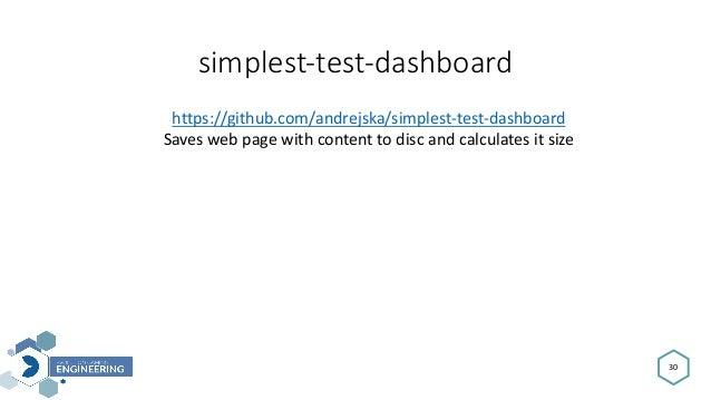 simplest-test-dashboard 30 https://github.com/andrejska/simplest-test-dashboard Saveswebpagewithcontenttodiscandca...