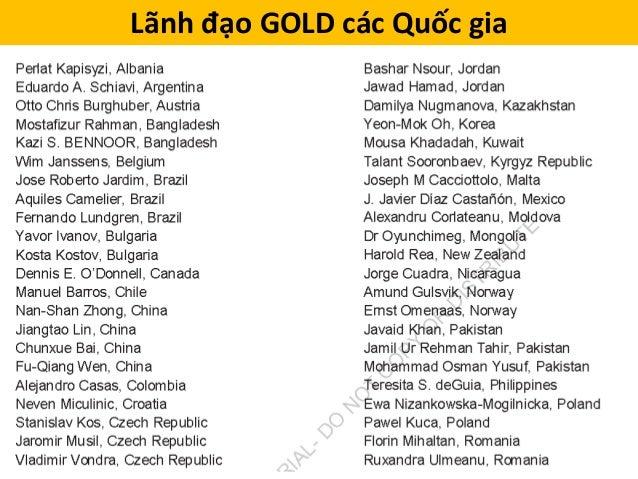 Lãnh đạo GOLD các Quốc gia