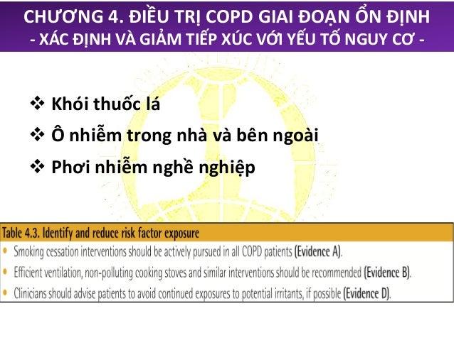 CHƯƠNG 4. ĐIỀU TRỊ COPD GIAI ĐOẠN ỔN ĐỊNH - ĐIỀU TRỊ BẰNG THUỐC -