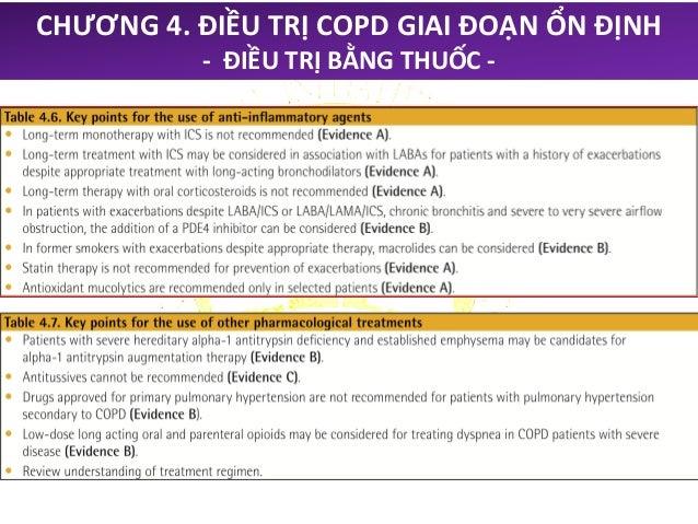 CHƯƠNG 4. ĐIỀU TRỊ COPD GIAI ĐOẠN ỔN ĐỊNH - ĐIỀU TRỊ BẰNG THUỐC - Điều trị bằng thuốc ban đầu Nhóm bệnh nhân Nên chọn đầu ...