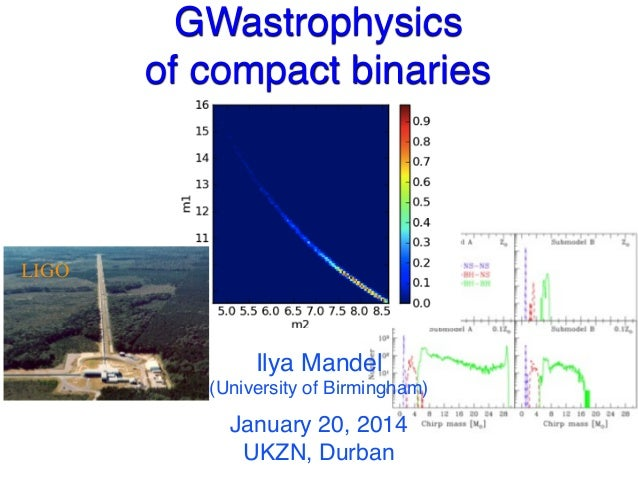 LIGO GWastrophysics of compact binaries Ilya Mandel (University of Birmingham) January 20, 2014 UKZN, Durban