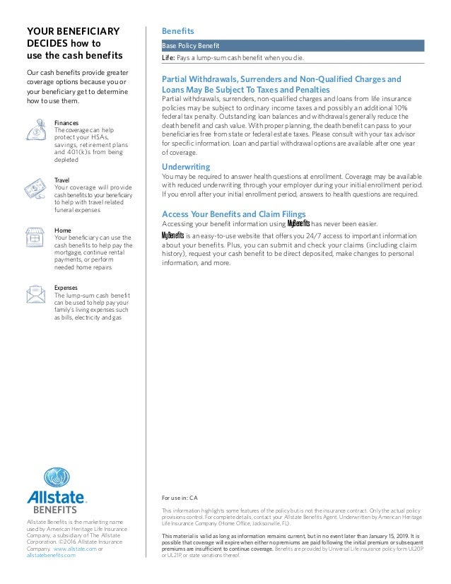 Universal Life Insurance from Allstate Benefits