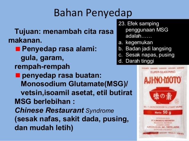 Chinese Restaurant Syndrome Adalah