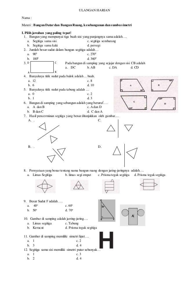 Ulangan matematika kelas5