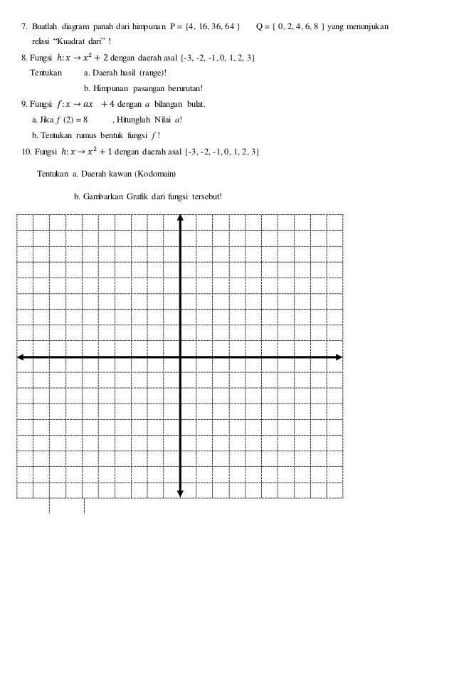 Ulangan mtk kelas 8 antoooo 4 7 buatlah diagram panah ccuart Choice Image