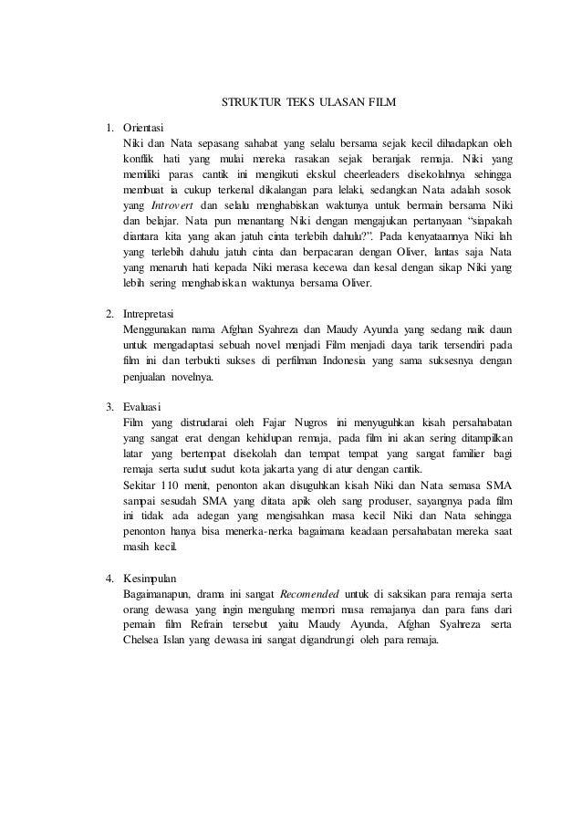 Review Ulasan Film Refrain 2 Struktur Teks Ulasan Film 1