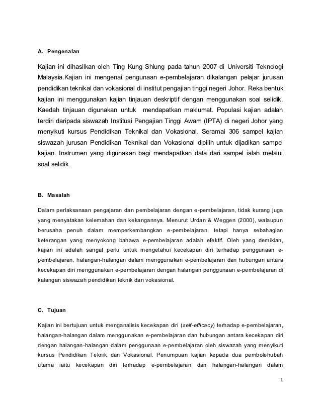 A. PengenalanKajian ini dihasilkan oleh Ting Kung Shiung pada tahun 2007 di Universiti TeknologiMalaysia.Kajian ini mengen...