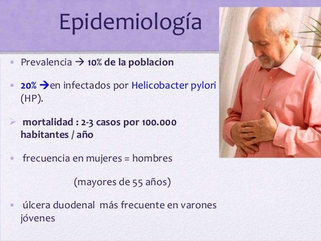 Epidemiología• Prevalencia  10% de la poblacion• 20% en infectados por Helicobacter pylori  (HP). mortalidad : 2-3 caso...