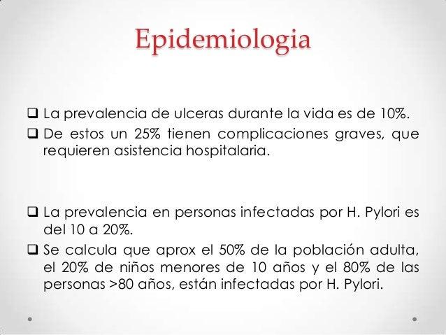 Ulceras relacionadas con H. Pylori  Helicobacter Pylory es un bacilo espiral flagelado Gram (-) que se adquiere en la inf...