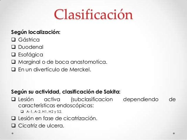 Clasificación de las lesiones producidas en la mucosa gastroduodenal Irrelevantes:  Grado I: Petequias y equimosis.  Gra...