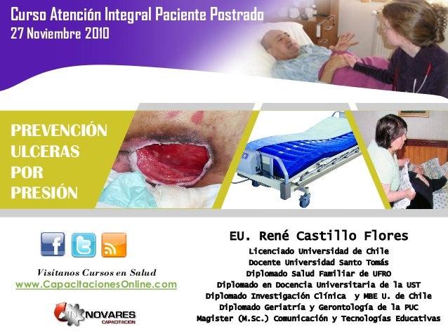 Curso Atención Integral Paciente Postrado27 Noviembre 2010                                    ULCERAS POR PRESIÓNPREVENCIÓ...