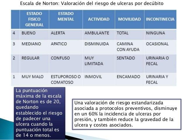 ESCALA DE NORTON ULCERAS POR PRESION PDF