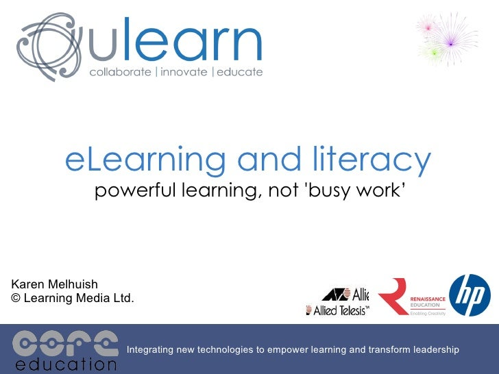 ULearn2010_eLearning and Literacy