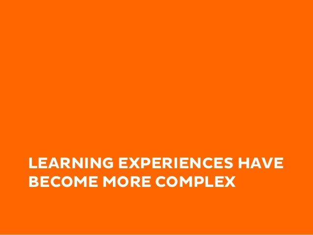 CHANGING NATURE OF LEARNING EXPERIENCES