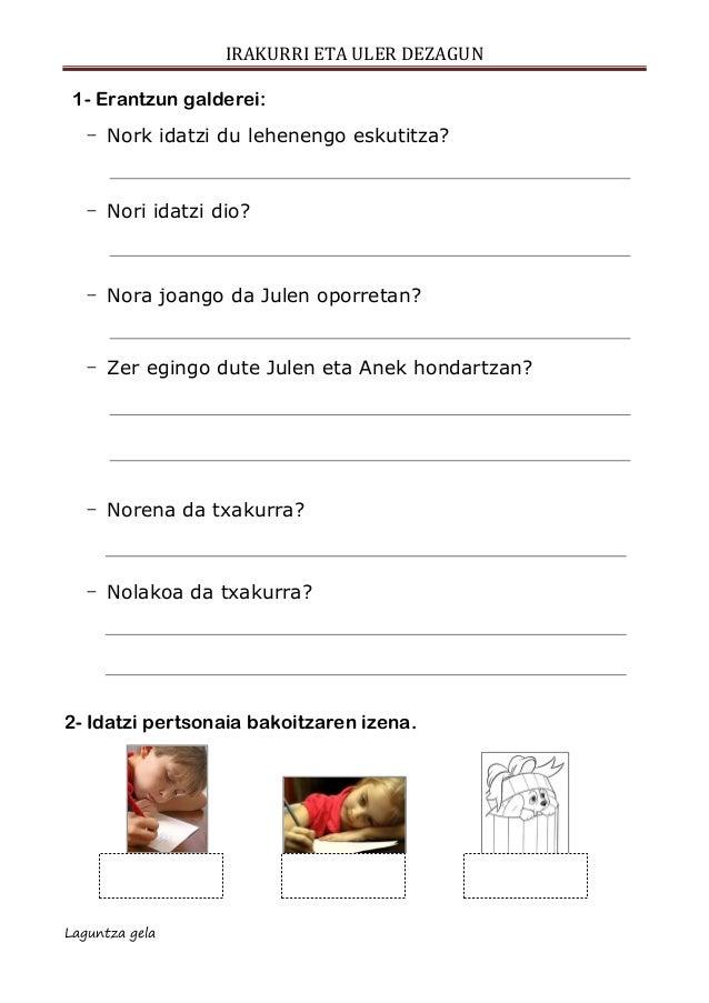 Ulermena escolar letra ESKUTITZA Slide 2