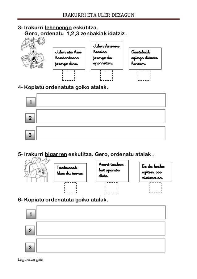 Ulermena escolar letra ESKUTITZA Slide 3