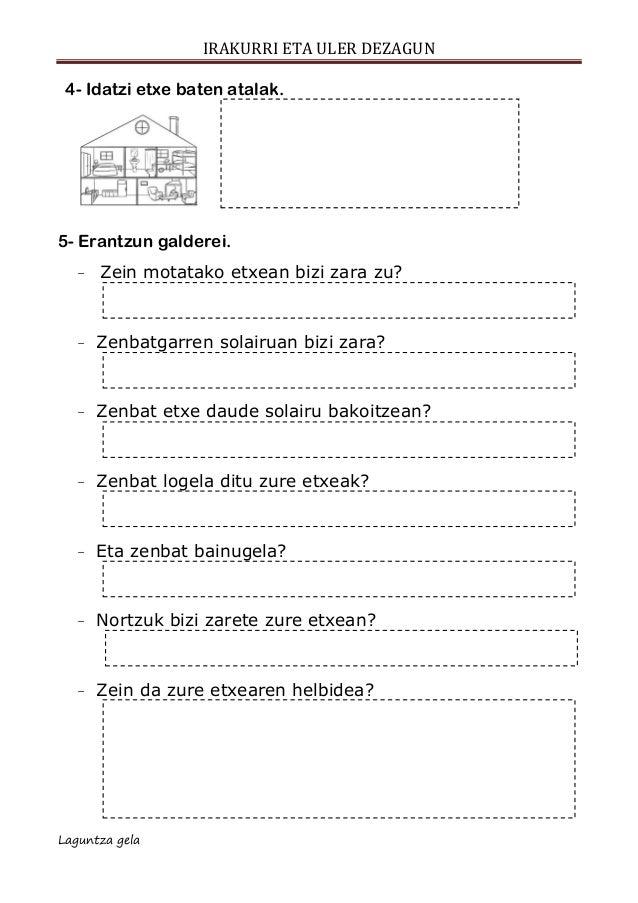 Ulermena escolar letra  etxe motak Slide 3
