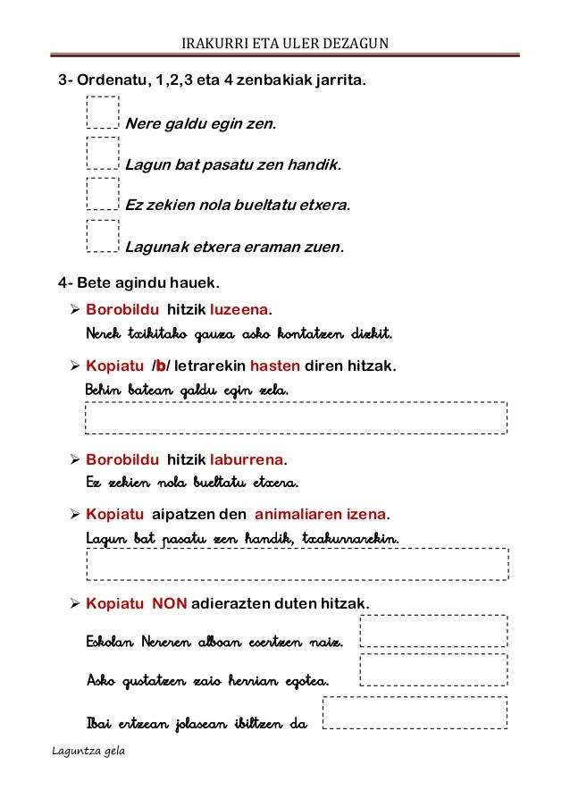 Ulermena escolar letra  NERE NIRE LAGUNA Slide 3