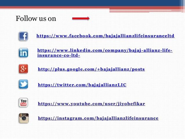 https://twitter.com/bajajallianzLIC Follow us on https://www.facebook.com/bajajallianzlifeinsuranceltd http://plus.google....