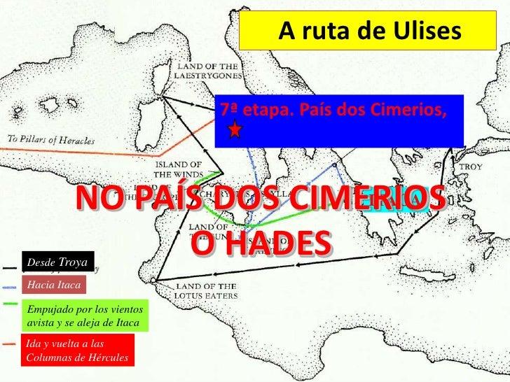 A ruta de Ulises                             7ª etapa. País dos Cimerios,          NO PAÍS DOS CIMERIOS                   ...